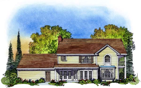 Traditional House Plan 86035 Rear Elevation