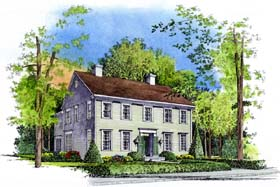 Colonial House Plan 86037 Elevation