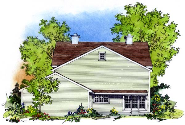 Colonial House Plan 86037 Rear Elevation