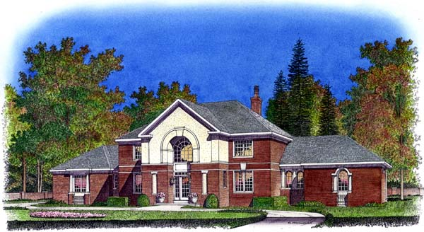 Colonial European House Plan 86038 Elevation