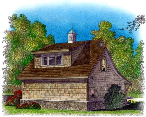 Cape Cod Cottage Craftsman Traditional Garage Plan 86040 Rear Elevation