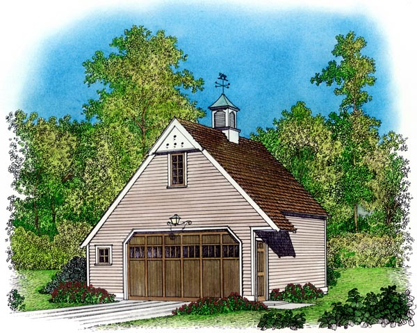 Cape Cod Colonial Country Traditional Garage Plan 86041 Elevation