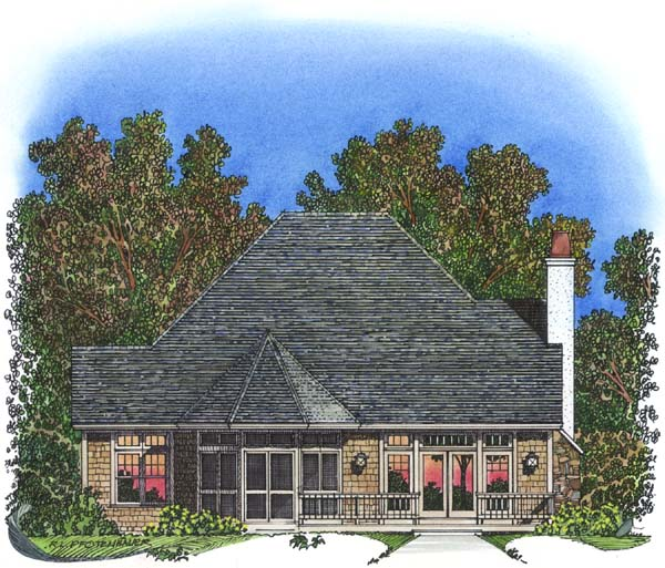 Traditional House Plan 86042 Rear Elevation