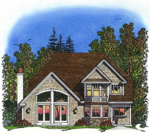 Traditional House Plan 86043 Rear Elevation