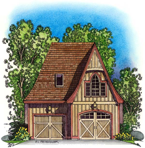 Garage Plan 86044 Elevation