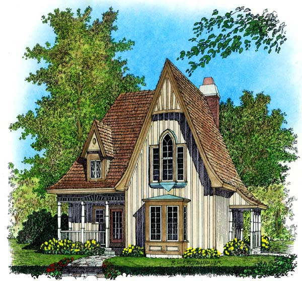 European House Plan 86045 Elevation