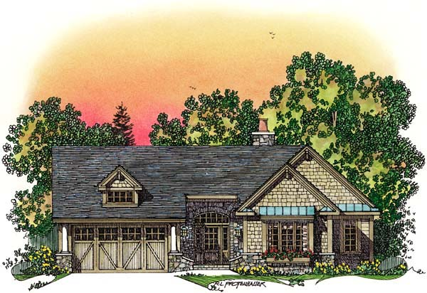 Ranch Traditional House Plan 86046 Elevation