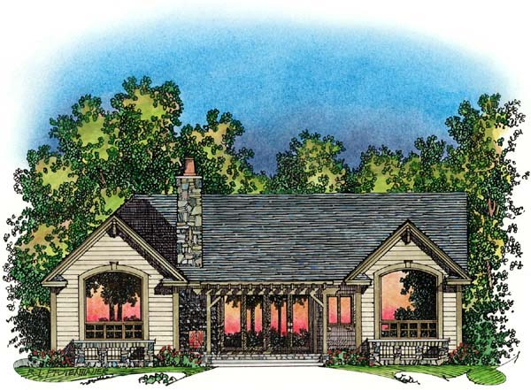 Ranch Traditional House Plan 86046 Rear Elevation
