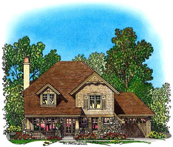 European Tudor House Plan 86047 Elevation