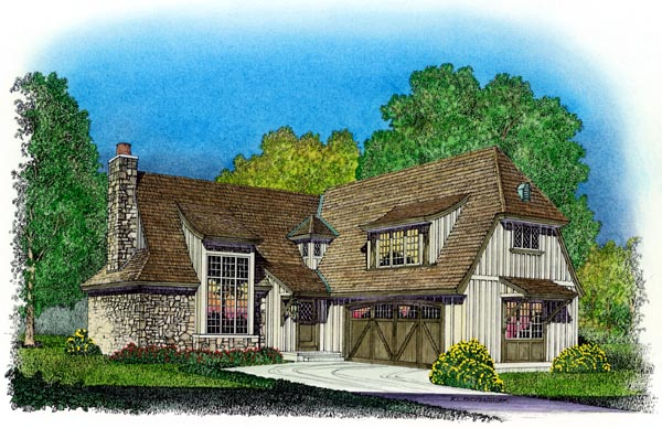 Tudor House Plan 86048 Elevation