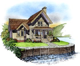 Country Victorian House Plan 86052 Elevation