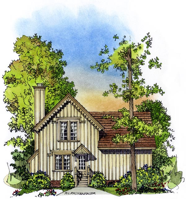 Country Victorian House Plan 86052 Rear Elevation
