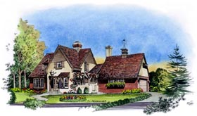 Country European House Plan 86054 Elevation