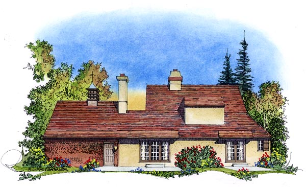 Country European House Plan 86054 Rear Elevation