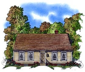 Colonial House Plan 86055 Elevation