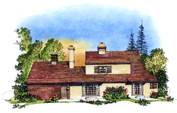 Country European House Plan 86056 Rear Elevation
