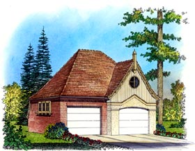 Country Traditional Victorian Garage Plan 86057 Elevation
