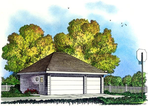 Colonial Garage Plan 86059 Elevation