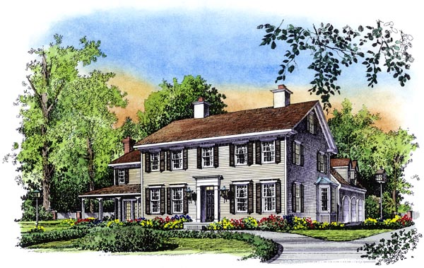 Colonial House Plan 86060 Elevation