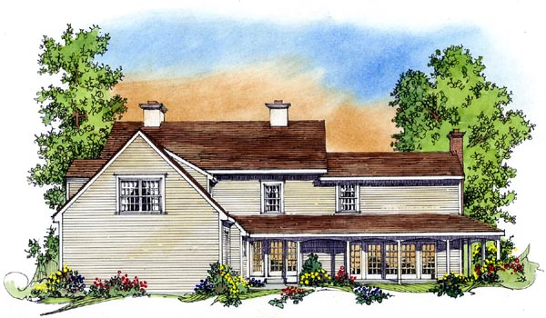 Colonial House Plan 86060 Rear Elevation