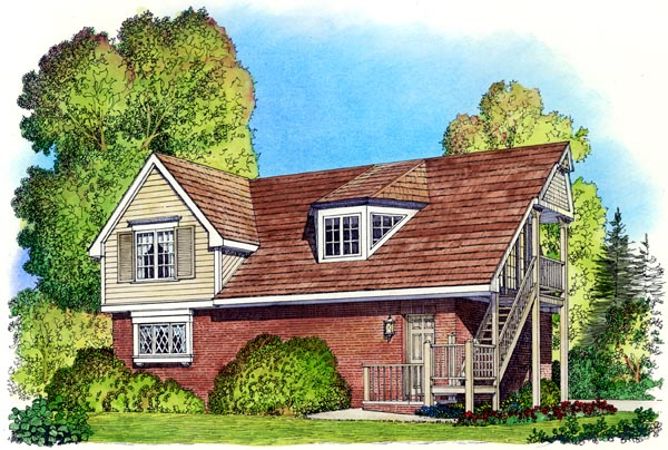 Cape Cod Coastal Colonial Country Traditional Garage Plan 86061 Elevation