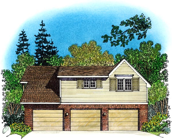 Cape Cod Coastal Colonial Country Traditional Garage Plan 86061 Rear Elevation