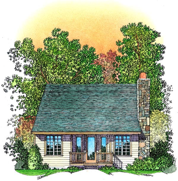 Bungalow Cottage Country House Plan 86066 Rear Elevation