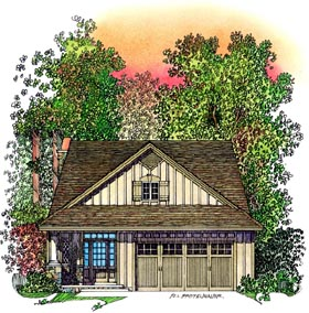 Bungalow Country Southwest House Plan 86067 Elevation