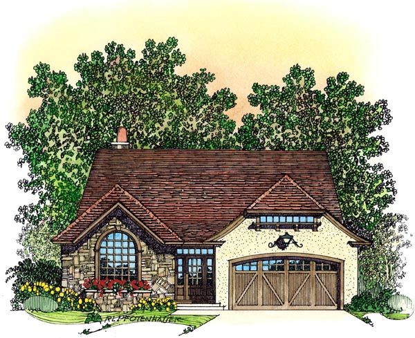 European Mediterranean Traditional Tudor House Plan 86072 Elevation