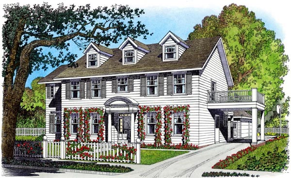 Colonial House Plan 86075 Elevation
