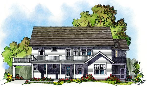 Colonial House Plan 86075 Rear Elevation