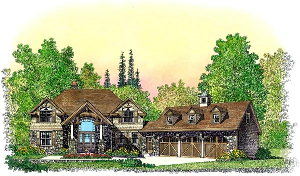 Bungalow Craftsman House Plan 86076 Elevation