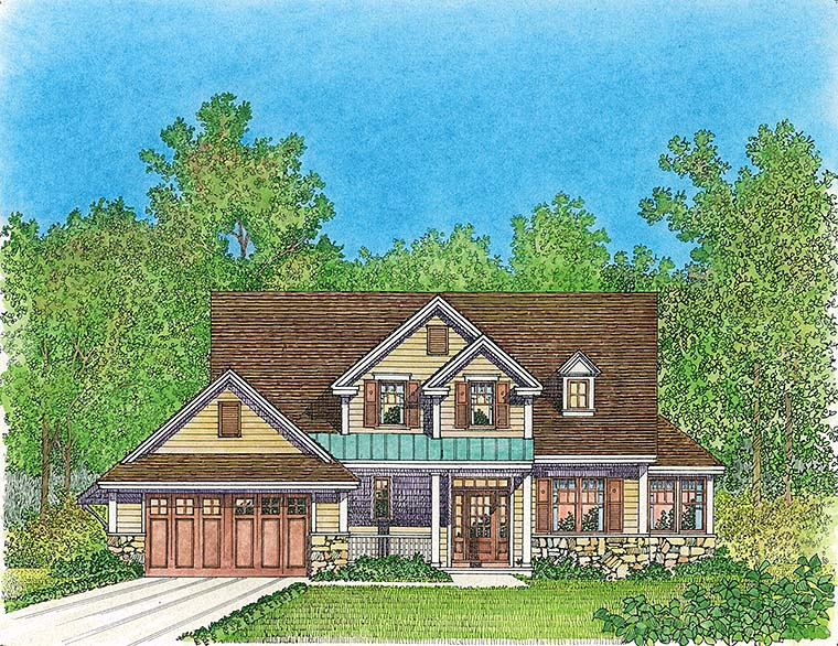 Cottage Country Traditional House Plan 86079 Elevation