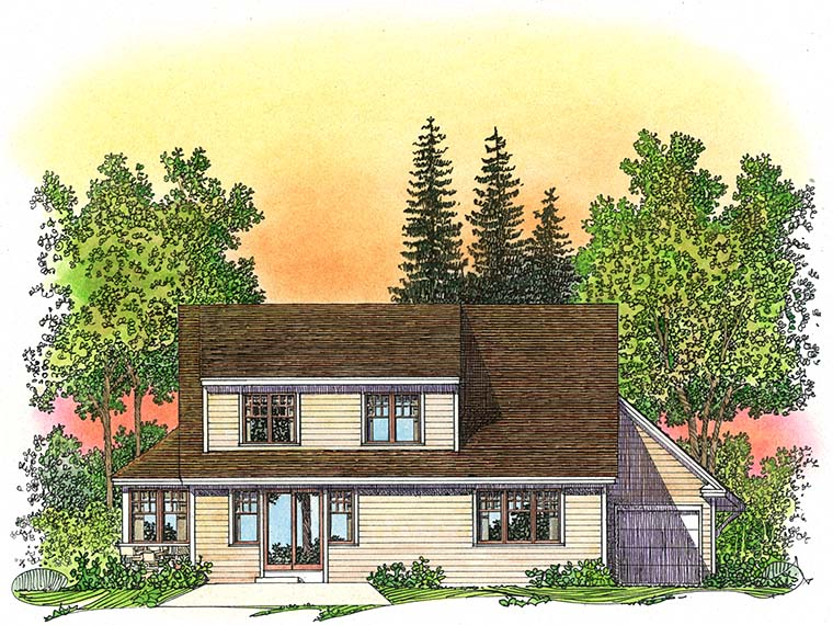 Cottage Country Traditional House Plan 86079 Rear Elevation