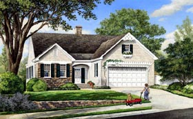 Cottage Craftsman Traditional House Plan 86100 Elevation