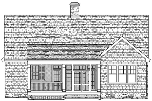 Cottage Craftsman Traditional House Plan 86100 Rear Elevation
