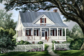 Cottage Country Farmhouse House Plan 86101 Elevation