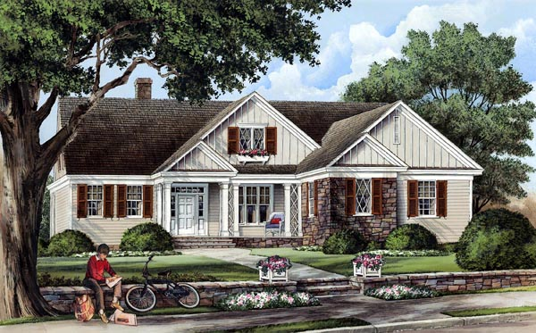 Cottage , Country , Craftsman , Traditional House Plan 86103 with 3 Beds, 3 Baths, 2 Car Garage Elevation