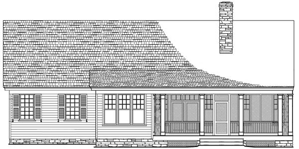 Cottage Country Craftsman Traditional House Plan 86103 Rear Elevation