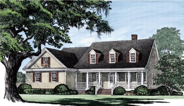 Cape Cod Country Southern Traditional House Plan 86104 Elevation
