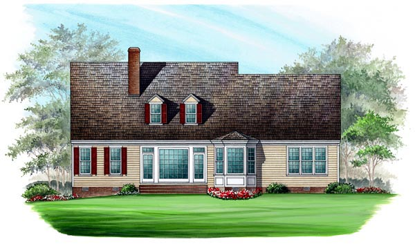 Cape Cod Country Southern Traditional House Plan 86104