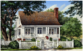 Traditional , Farmhouse , Country , Cottage House Plan 86105 with 3 Beds, 3 Baths, 2 Car Garage Elevation