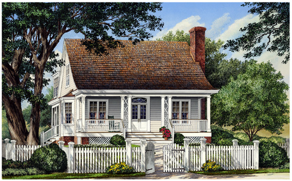 Cottage, Country, Modern Farmhouse, Traditional House Plan 86105 with 3 Beds , 3 Baths , 2 Car Garage Elevation