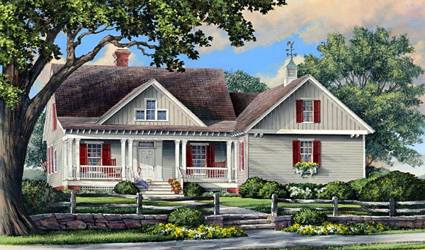 Cottage Country Craftsman Traditional House Plan 86107 Elevation