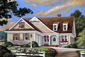Cottage Country Craftsman European House Plan 86108 Elevation
