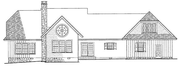 Country Craftsman Southern House Plan 86111 Rear Elevation