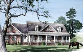 Colonial Country Southern Traditional House Plan 86112 Elevation