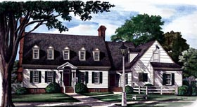 Colonial Southern House Plan 86113 Elevation