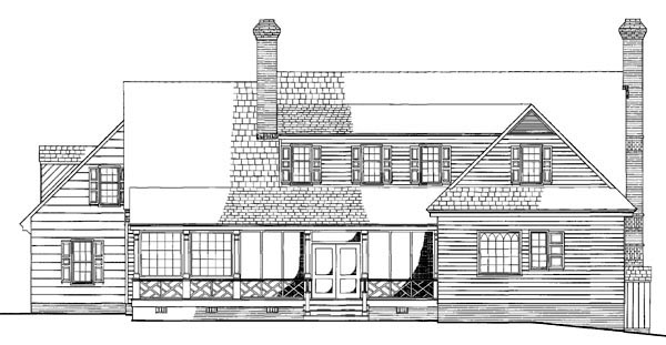Colonial Southern House Plan 86113 Rear Elevation