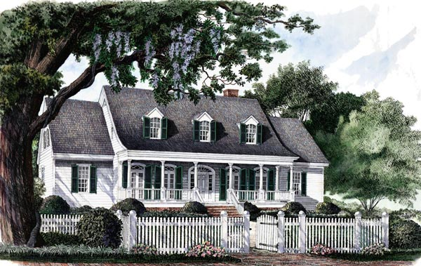 Country Southern Traditional House Plan 86116 Elevation